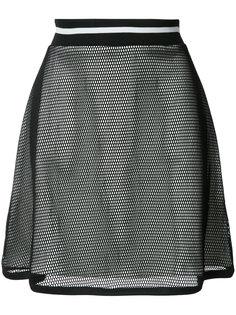 многослойная юбка А-силуэта с прозрачной деталью Boutique Moschino