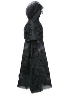 вечернее платье со шлейфом Isabel Sanchis
