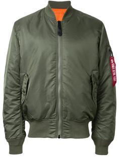 куртка-бомбер с накладными карманами Alpha Industries