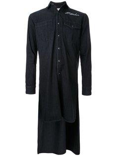 рубашка с удлиненным подолом  Maison Mihara Yasuhiro