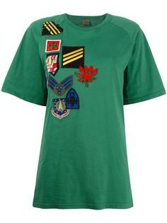 футболка с нашивками Raglan Mr & Mrs Italy