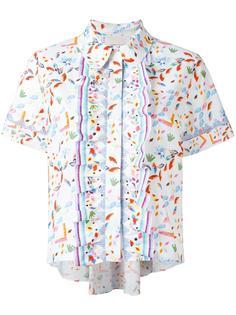 укороченная блузка с оборками Peter Pilotto