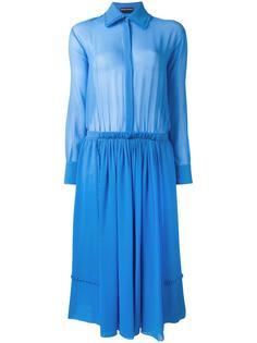 платье-рубашка со складками Rochas