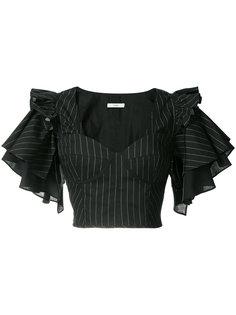 укороченная блуза с рюшами на рукавах Tome