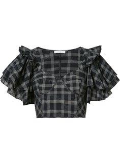 укороченная блуза с оборками на рукавах Tome