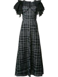 длинное платье с оборками на рукавах Tome