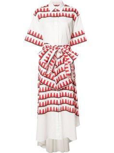 длинное платье-рубашка с поясом Tome