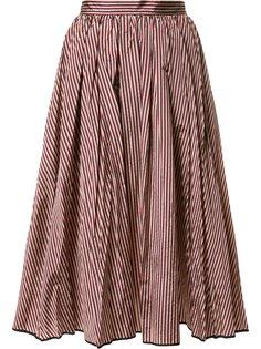 расклешенная юбка с полосатым узором Tome