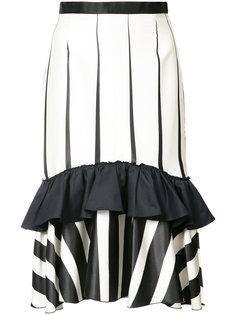 полосатая юбка оборками Tome