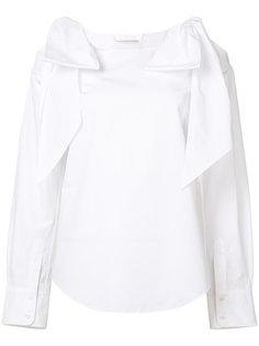 блуза с завязками и прорезями на плечах Chloé