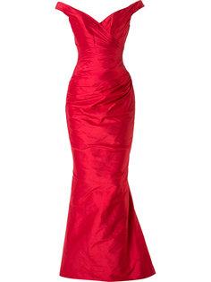 вечернее платье с V-образным вырезом Romona Keveza