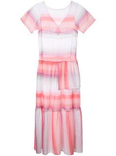 расклешенное платье в полоску Lemlem