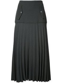 плиссированная юбка карго Linear Dion Lee