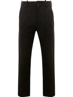 фактурные брюки с потертой отделкой Ann Demeulemeester