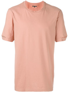футболка с вырезами на рукавах Helmut Lang