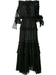 длинное платье с оборками и открытыми плечами Faith Connexion