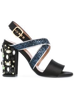 туфли с декорированным каблуком Marni