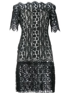 кружевное платье с открытыми плечами Huishan Zhang
