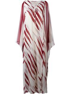 удлиненное платье-кафтан  Tory Burch