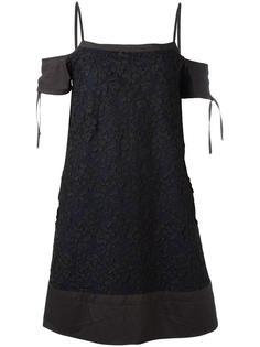кружевное платье с цветочным узором Diesel Black Gold