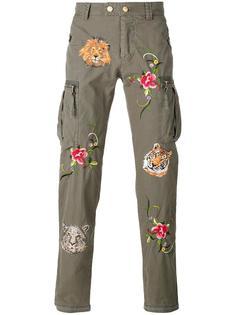 брюки с цветочной вышивкой History Repeats