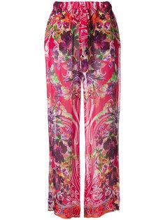 шелковые брюки с цветочным принтом Etro