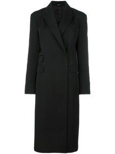 приталенное однобортное пальто Maison Margiela