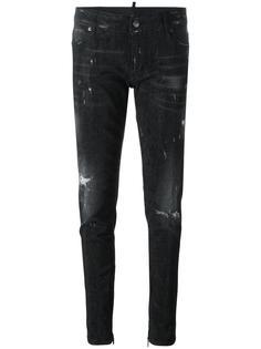 узкие джинсы с заклепками Dsquared2