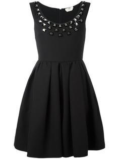 платье из крепа с заклепками Fendi