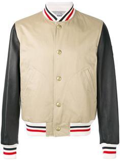 куртка-бомбер с контрастными рукавами Moncler Gamme Bleu