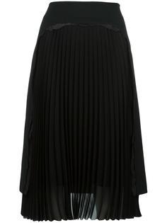 юбка с плиссированной панелью Maison Margiela