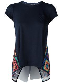 футболка с вязаной вставкой Sacai