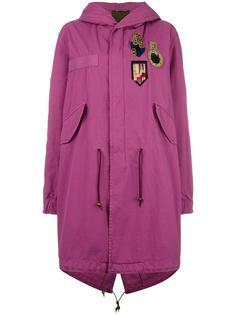 пальто с капюшоном и нашивками Mr & Mrs Italy