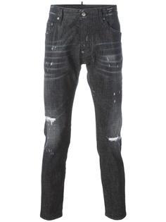 джинсы Skater в мини-заклепках Dsquared2