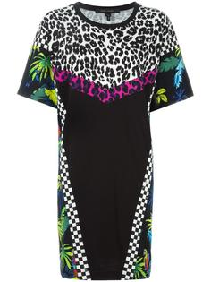 платье-футболка с рисунком в стиле пэчворк Marc Jacobs