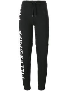 спортивные брюки с принтом логотипа Filles A Papa