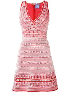 платье с вышивкой Hervé Léger