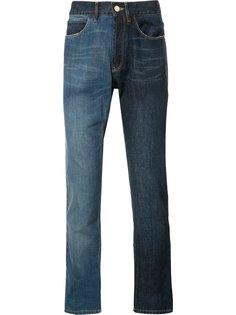 двухцветные джинсы скинни Lanvin