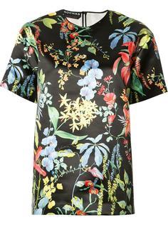 футболка с цветочным принтом Rochas
