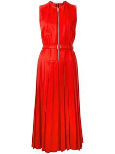 плиссированное платье на молнии Victoria Beckham