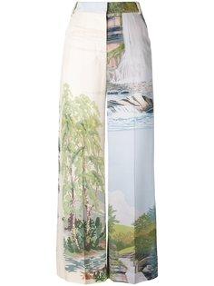 широкие брюки с принтом пейзажа Stella McCartney
