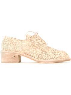 ботинки на шнуровке с вышивкой Laurence Dacade