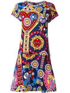 платье с комбинированным принтом  Love Moschino
