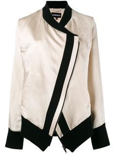 куртка-бомбер с контрастной окантовкой Ann Demeulemeester