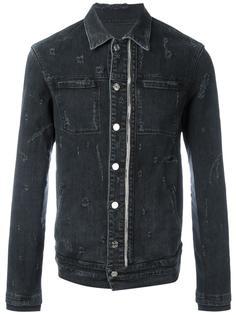 джинсовая куртка с потертой отделкой Rta