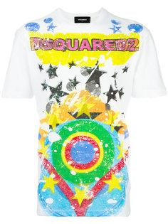 футболка с принтом звезд Dsquared2