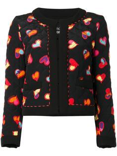 куртка с принтом сердец Boutique Moschino
