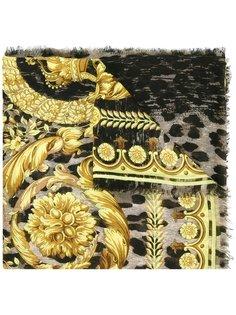 леопардовый шарф с принтом Барокко Versace