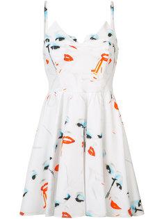 платье мини с принтом Jeremy Scott