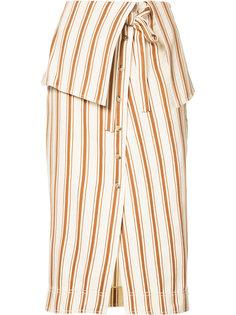 полосатая юбка с отворотом Rosie Assoulin